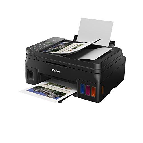 Canon PIXMA G4511 MegaTank Drucker nachfüllbares Tintenstrahl Multifunktionssystem DIN A4 (Scanner, Kopierer, 4.800 x 1.200 dpi, ADF,WLAN, große Tanks, hohe Reichweite, niedrige Seitenkosten) schwarz