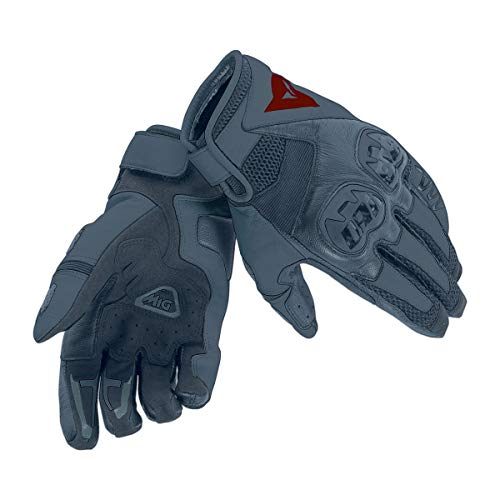 Dainese Mig C2 Gloves Guanti Moto Estivi in Pelle, Unisex - Adulto, Nero/Nero/Nero, M