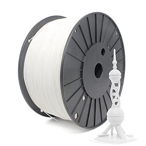 Reprapper Filamento PLA+ Plus 1.75 3kg para Impresión 3D, PLA Extra Resistente para Impresora 3D, Blanco