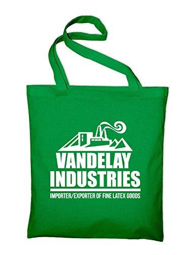 Styletex23 Vandelay Industries Seinfeld Jutebeutel Baumwolltasche, grün