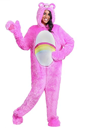 Adult Classic Care Bears Costume Plus Size Cheer Bear - 3X Pink