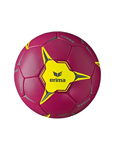 Erima Kinder G 9 2.0 Handball, Berry/Gelb, 0