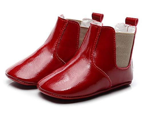 Josmo Unisex-Baby Luke Fashion Boot, Fuchsia Patent/tan, 10 Medium US Toddler