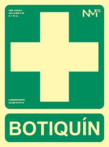 Normaluz RD14108 - Señal Luminiscente Botiquin Clase B PVC de 0.7mm c