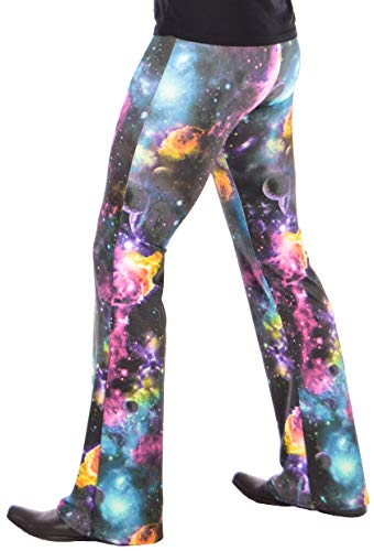 Revolver Fashion Herren Psychedelic Flare Pants: USA Made Flared Bell Pants - mehrfarbig - Klein