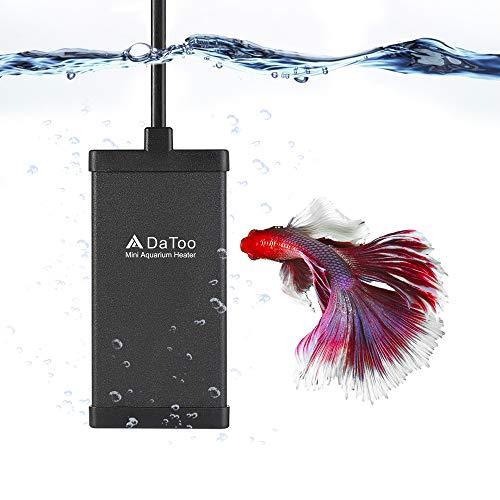 DaToo 10 Watt Small Aquarium Heater Mini Betta Flat Fish Tank Heater for 1 Gallon 1.5 Gallon