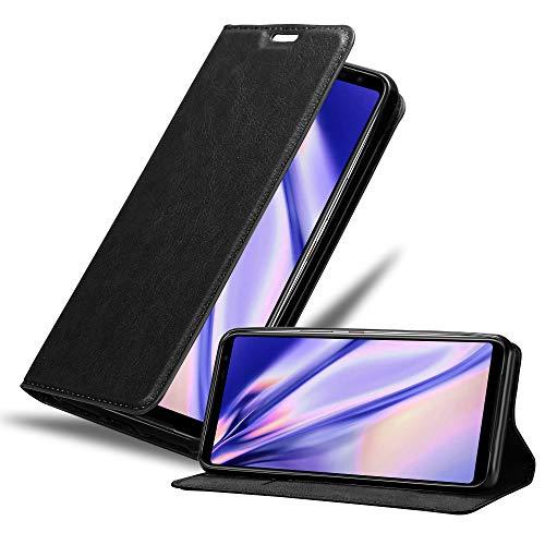 Cadorabo Hülle kompatibel mit Asus ROG Phone 3 in Nacht SCHWARZ - Handyhülle mit Magnetverschluss, Standfunktion & Kartenfach - Hülle Cover Schutzhülle Etui Tasche Book Klapp Style