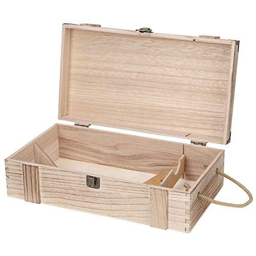 Gedourain Caja de Almacenamiento de Vino, Elegante Caja de Almacenamiento de Madera Duradera de patrón Delicado de Gama Alta para envasado de Vino Tinto