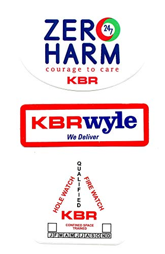 KBR 3 Sticker Bundle. Hardhat/Decals. Great for the Roughneck, Oil Worker, Construction Worker. Looks great on a Helmet, Lunchbox, or Toolbox.