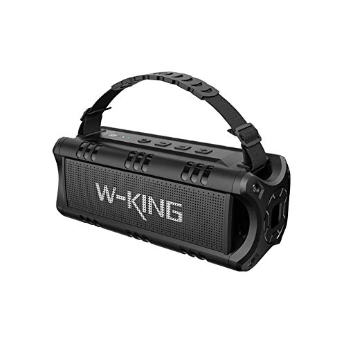 Bluetooth Speakers, W-KING 30W TWS Portable Wireless Speakers, 24 Hours Playtime with Powerful Bass, NFC, TF Card, USB Playback, Built-in Mic, AUX, Waterproof Speaker for Home