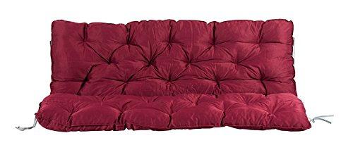 Meerweh Auflage mit Rückenteil für Bank, rot, 150 x 98 x 10 cm, 74087