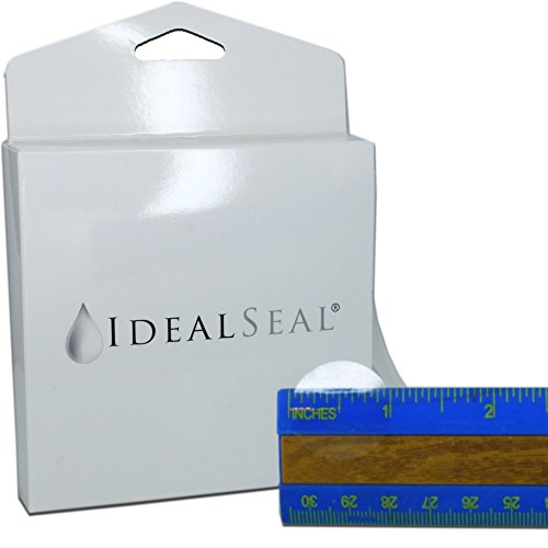 """1,000 Clear Round Stickers (with Dispenser Box) Clear Retail Package Seals Mailing Seals Envelope Seals 1"""" Round Circle Wafer Stickers 1000 Per Roll (1 Roll Per Box) USA (1 Box (1000))"""