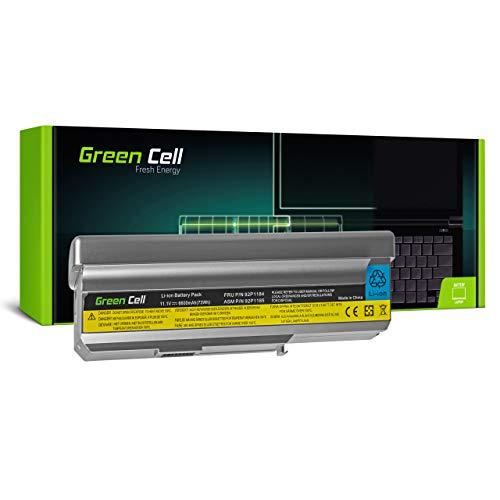 Green Cell Batería para Lenovo 3000 C200 8922 N100 0689 0768 N200 0687 0769 15W Portátil (6600mAh 11.1V Plateado)