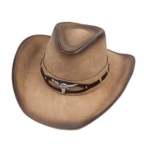 XINTD Sombrero de Vaquero para los Hombres de Las Mujeres, Estilo de l