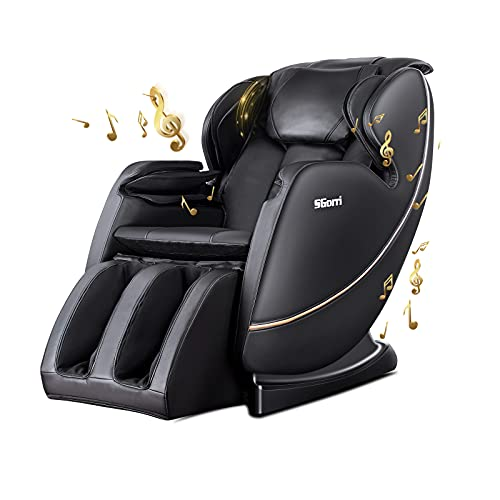 SGorri Massage Chair Fully Body Zero Gravity and Shiatsu Recliner with Bluetooth, Hip Heating, Foot Massage and Air Pressure for Father/Mother/Home/Office ,SG-5101