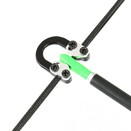 VERY100 Bogenschießen D Loop Ring Bogensehne Compoundbogen Zubehör (schwarz)