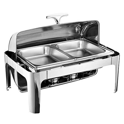 9L Calentador comida buffet Acero Inoxidable Chafing Dish Catering Depósito de mantenimiento...