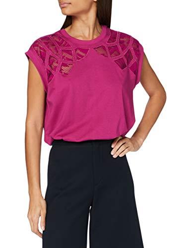 Desigual TS_Lisboa Camiseta, Rojo, S para Mujer