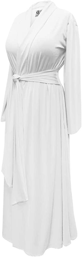 Plus Outstanding Size Retro White Rayon Brushed Quality inspection Blend Cotton Hostess Robe w