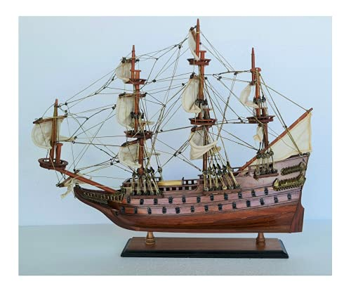 "Wasa Wooden Boat Model 20"" Handmade Vasa Wood War Ship Historical Home Living Room Office Nautical Marine Decoration Décor Display WASA-40CM"