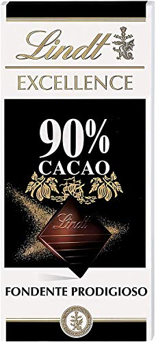 Lindt Excellence Tableta de Chocolate Negro 90% Cacao, 100g