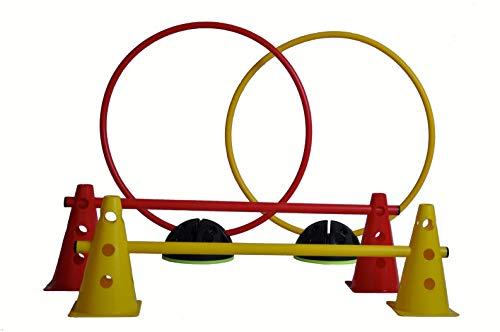 LA-24 Agility Hürden und Reifen-Set (rot, gelb)