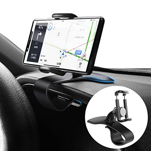 スマホスタンド 片手操作 車載ホルダー 360度回転 ダッシュボード・デスクにも適用 スマホ車載ホルダー クリップ式 車 携帯ホルダー iPhone Android スマホホルダー 自由調節/安定性抜群 着脱簡単 取り付け簡単(4-6.5インチ) インチス