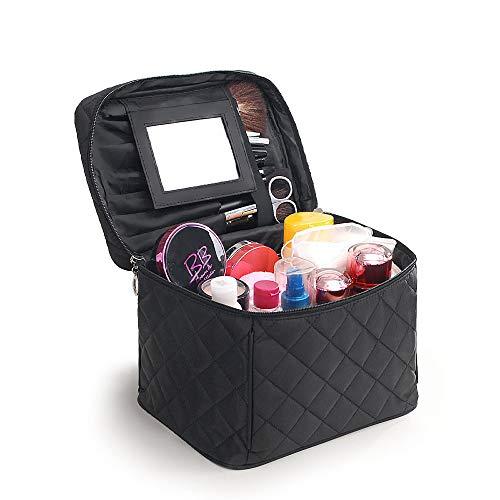 Boîte cosmétique JPPSNH Maquilleur Professionnel Trousse à Maquillage Grande capacité Trousse de Toilette Multifonction Sac de Rangement Noir. (Color : Black)