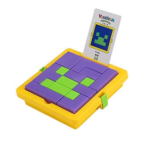 pegtopone Bloque de madera tanzangram bloque bloque bloque de madera juego juego 3D edificio ruso juguete forma puzle Montessori juguete educativo regalo para niños adultos