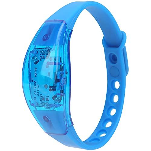 Pulsera LED ajustable, pulsera intermitente fácil de usar para Night Run para conciertos de música para fiestas(blue)