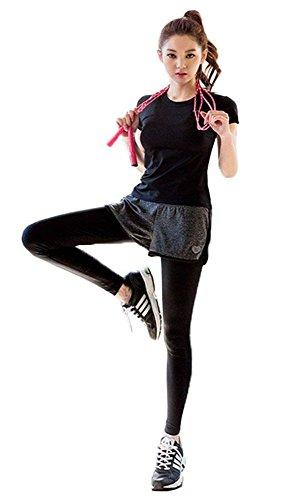 AOX BRRAEL シリーズ スポーツ トレーニング ヨガ ウェア レディース 上下 パンツ 半袖 スポーツブラセット...