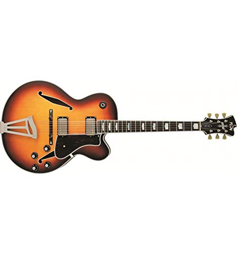 FGN Masterfield Jazz Burst - Guitarra semiacústica jazz