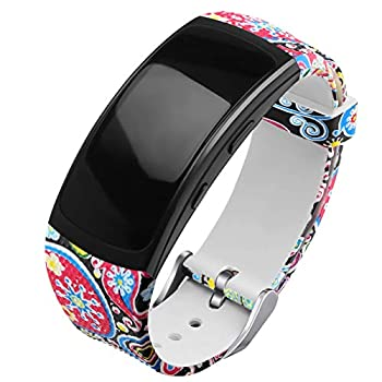 OenFoto Compatible Gear Fit2 Pro/Fit2 Band Replacement Silicone Accessories Strap Samsung Gear Fit2 Pro SM-R365/Gear Fit2 SM-R360 Smartwatch -Marine Fish Pattern
