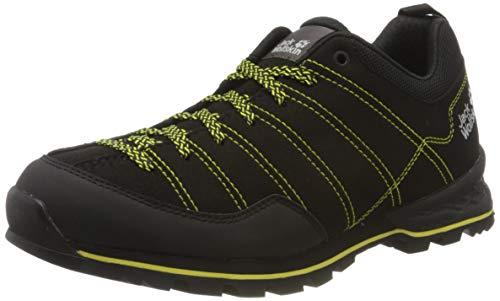 Jack Wolfskin Scrambler Low M, Chaussures de Randonnée Basses Homme, Noir (Black/Lime 6084), 44 EU