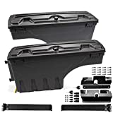 Compatible For Chevy Silverado GMC Sierra 1500 2500 3500 2007-2018 Lockable Storage Box Case Truck Bed Toolbox Set of Left Driver & Right Passenger Side