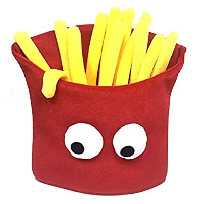 Décorations daccessoires dHalloween, chapeau de restauration rapide en forme de frites, chapeau de nourriture de frites, accessoire de déguisement de fête de Noël de carnaval