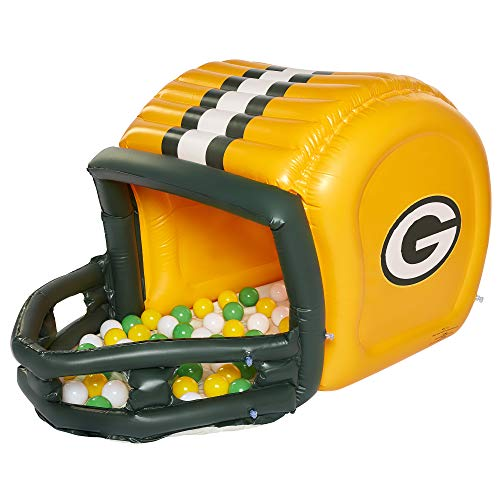 Ball Pits for Kids, Green Bay Packers Ball Pit with 50 Balls, Toddler Jungle Gym Playhouse Inflatable for Boys Girls Kids Infants & Baby [Balls Included]
