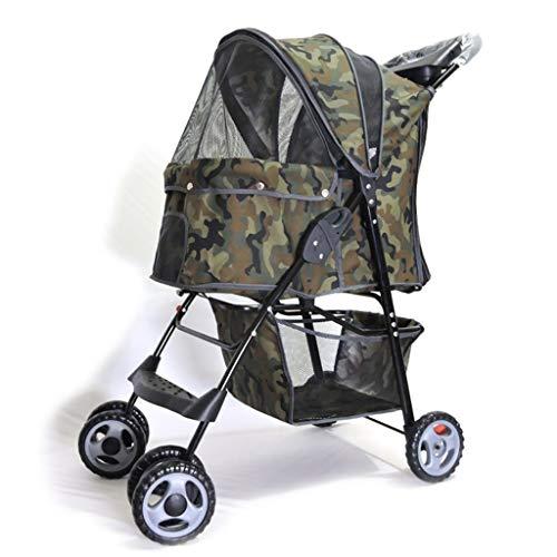Carritos Perros Perros Gato Y Perro Al Aire Libre De Cuatro Ruedas Gato Y Perro Plegables En Bicicleta Lesiones Andador Transportadoras y Productos de Viaje (Color : B, Size : 67 * 45 * 96CM)