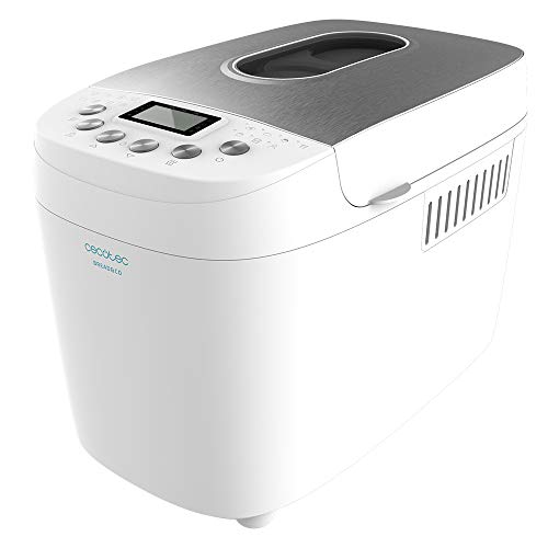 Cecotec Bread&Co 1500 PerfectCook - Panificadora (850 W, 1, 5 Kg, 15 Programas, 15 horas programables, 2 Resistencias, Cubeta apta para lavavajillas, Recetario)