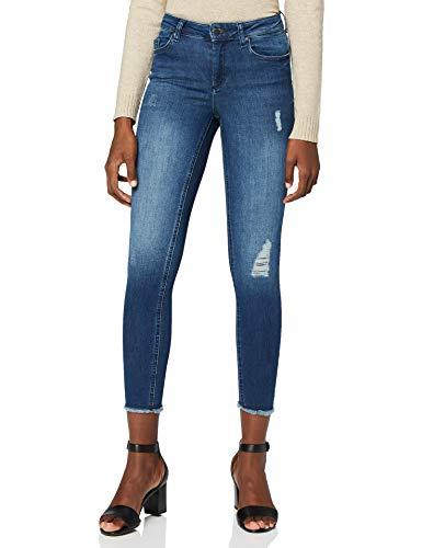 ONLY Damen onlBLUSH MID ANK RAW Jeans REA2077 NOOS Skinny, Blau (Medium Blue Denim Medium Blue Denim), L / L32