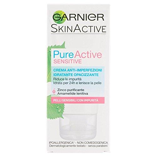 Garnier Pure Active Crema Anti-Imperfezioni Idratante Opacizzante, 50 ml