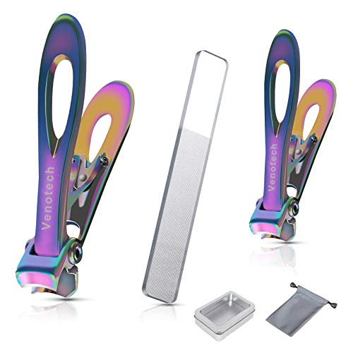 Venotech Nail Clippers KitToenail Fingernail Clippers for Thick NailsProfessional Nail Trimmers for Men Women Seniors Adult