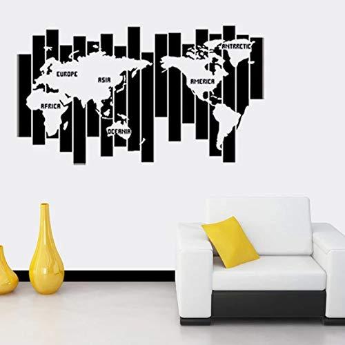 Mapa de palabra promocional Etiqueta de la pared Arte creativo Pared Decoración de dormitorio en casa Patrón de pared