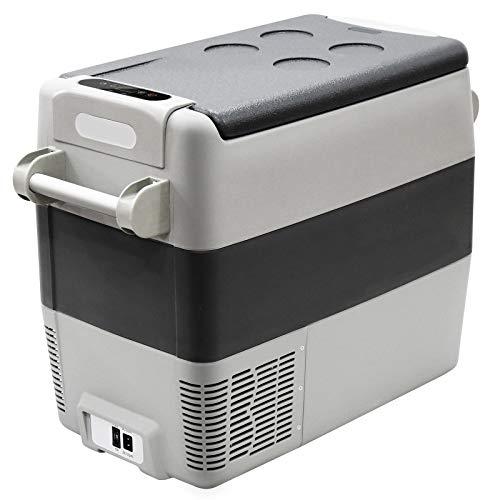 Portable Refrigerator 12V Car Freezer, 50 Liter Truck Refrigerator, Home and Car Use, Electric Powered 12V/110V, 2-YEAR Warranty on the Compressor
