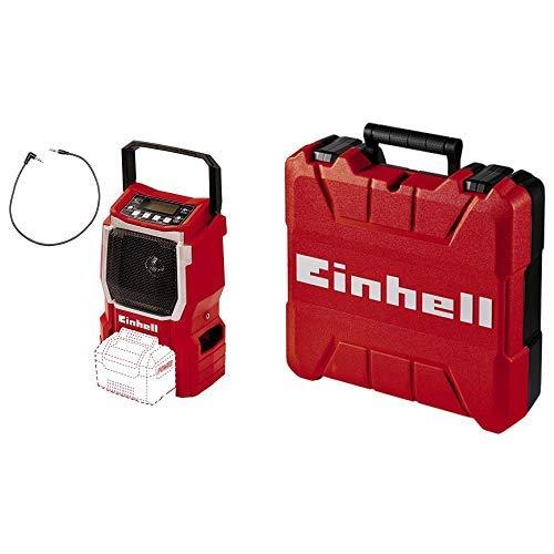 Einhell Akku Radio TE-CR 18 Li Solo Power X-Change (Lithium Ionen, 18 V, AUX inklusive Anschlusskabel für Handy) + Koffer E-Box S35 (für universelle Aufbewahrung von Werkzeug und Zubehör)