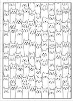 猫の背景透明クリアシリコンスタンプ/DIYスクラップブッキング用シール/フォトアルバム装飾クリアスタンプA0168