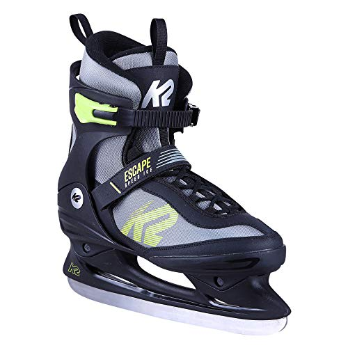 K2 Skates Herren Schlittschuhe Escape Speed Ice M — black - grey - yellow — EU: 42 (UK: 8 / US: 9) — 25C0110