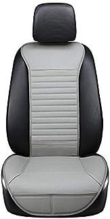 Funda de asiento de coche NLRHH en el cojín de asiento de coche familiar de calidad resistente al desgaste juego de piezas de carbón maleta de cuero (color: gris)