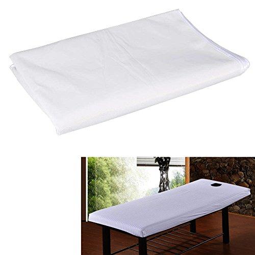 2 pezzi Copriletto impermeabile copripiumino per salone di bellezza, Lettino SPA,massaggi, tatuaggio, hotel, copri materasso, uso quotidiano per persona e animale domestico(80 * 200-bianco)