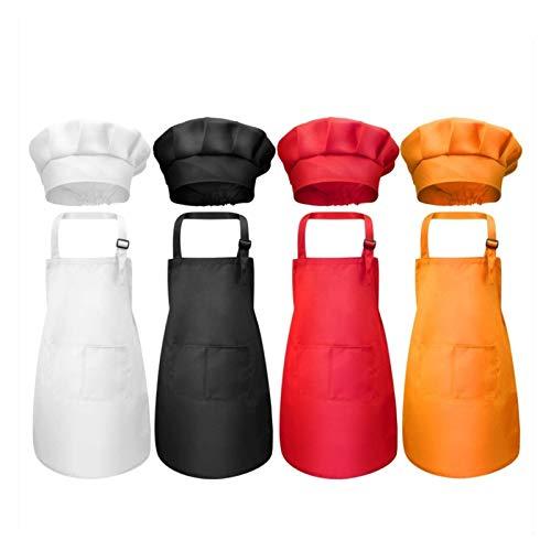 RAITL Niños Frente Bolsillo Babero Delantal niño Muchachos Chicas Delantal Cocina niño artesanía niños Delantal niño Pintura niño Cocina (Color : Black, Size : L)